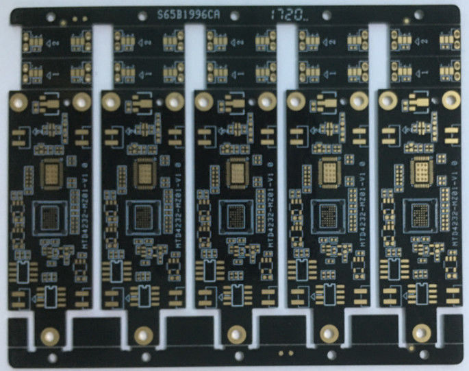 1.2mm Thickness Prototype PCB Board Black Solder Mask IPC-A-160 Standard